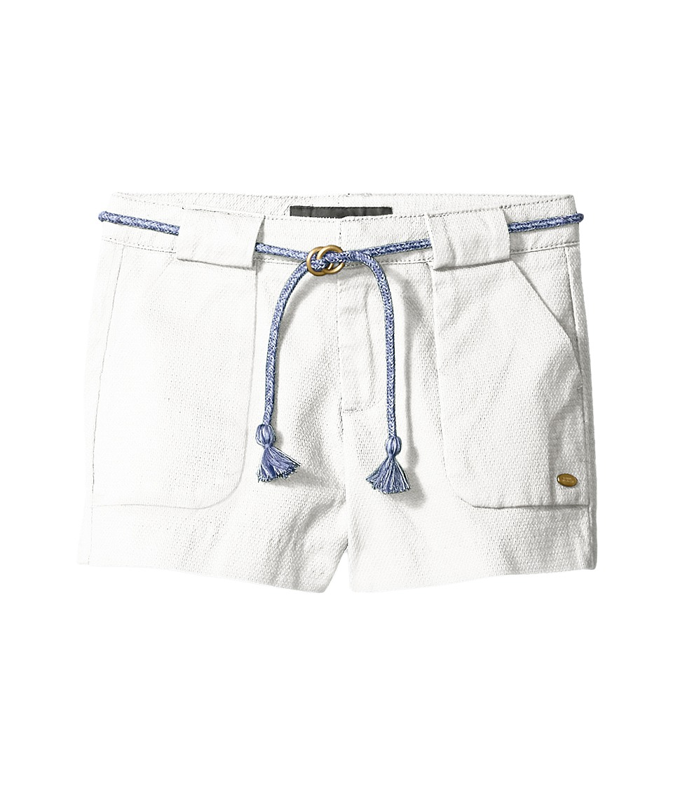 Tommy Hilfiger Kids - Woven Shorts with Belt (Little Kids/Big Kids) (White) Girl's Shorts