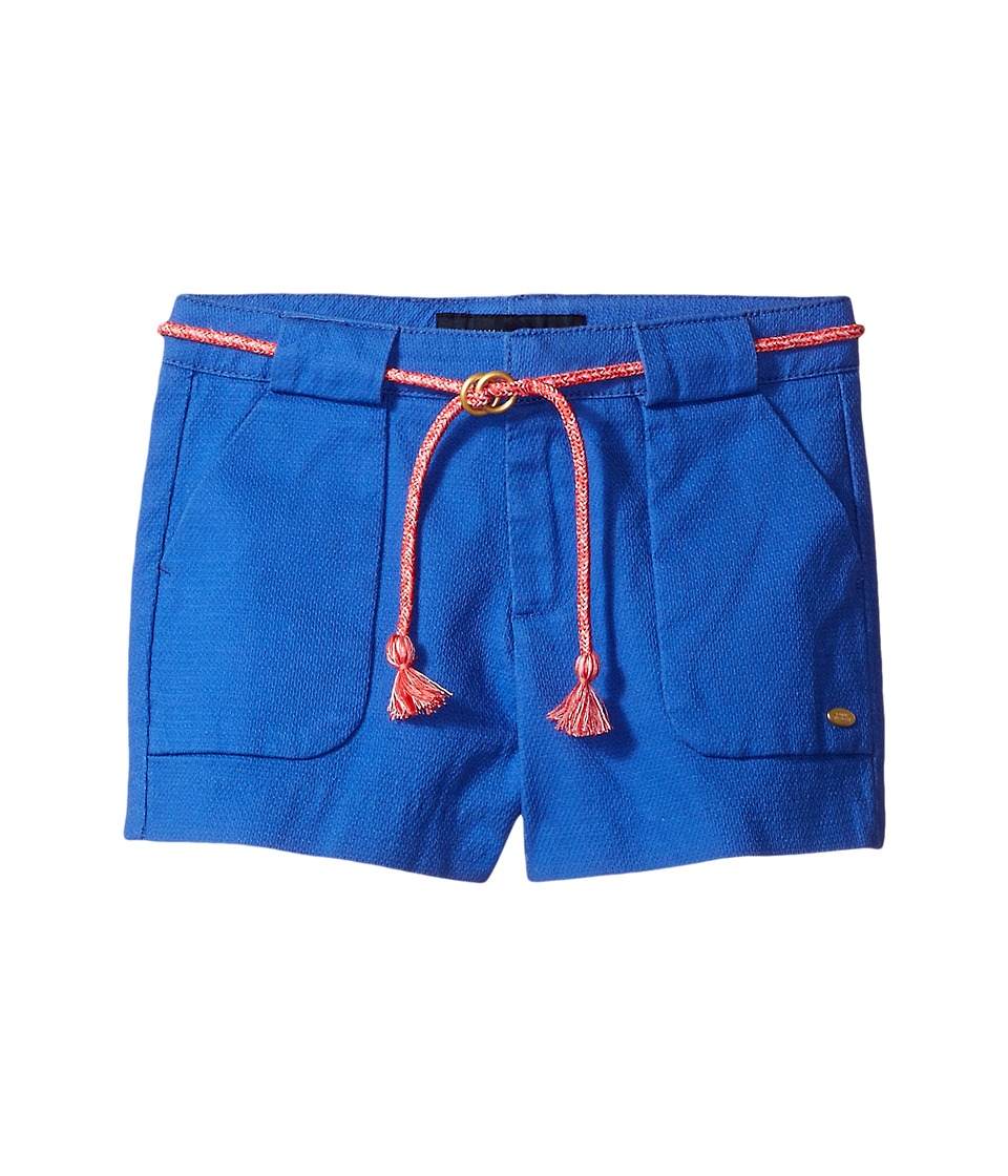 Tommy Hilfiger Kids - Woven Shorts with Belt (Little Kids/Big Kids) (Moorish Blue) Girl's Shorts