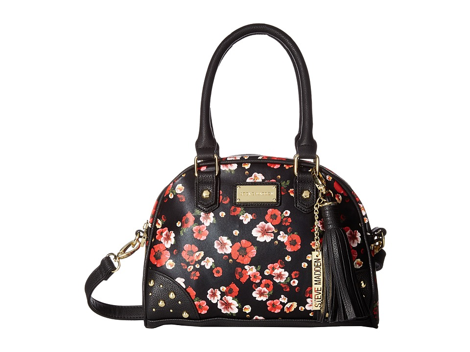 Steve Madden - Mini Bgloria Studs Crossbody (Black/Floral) Handbags