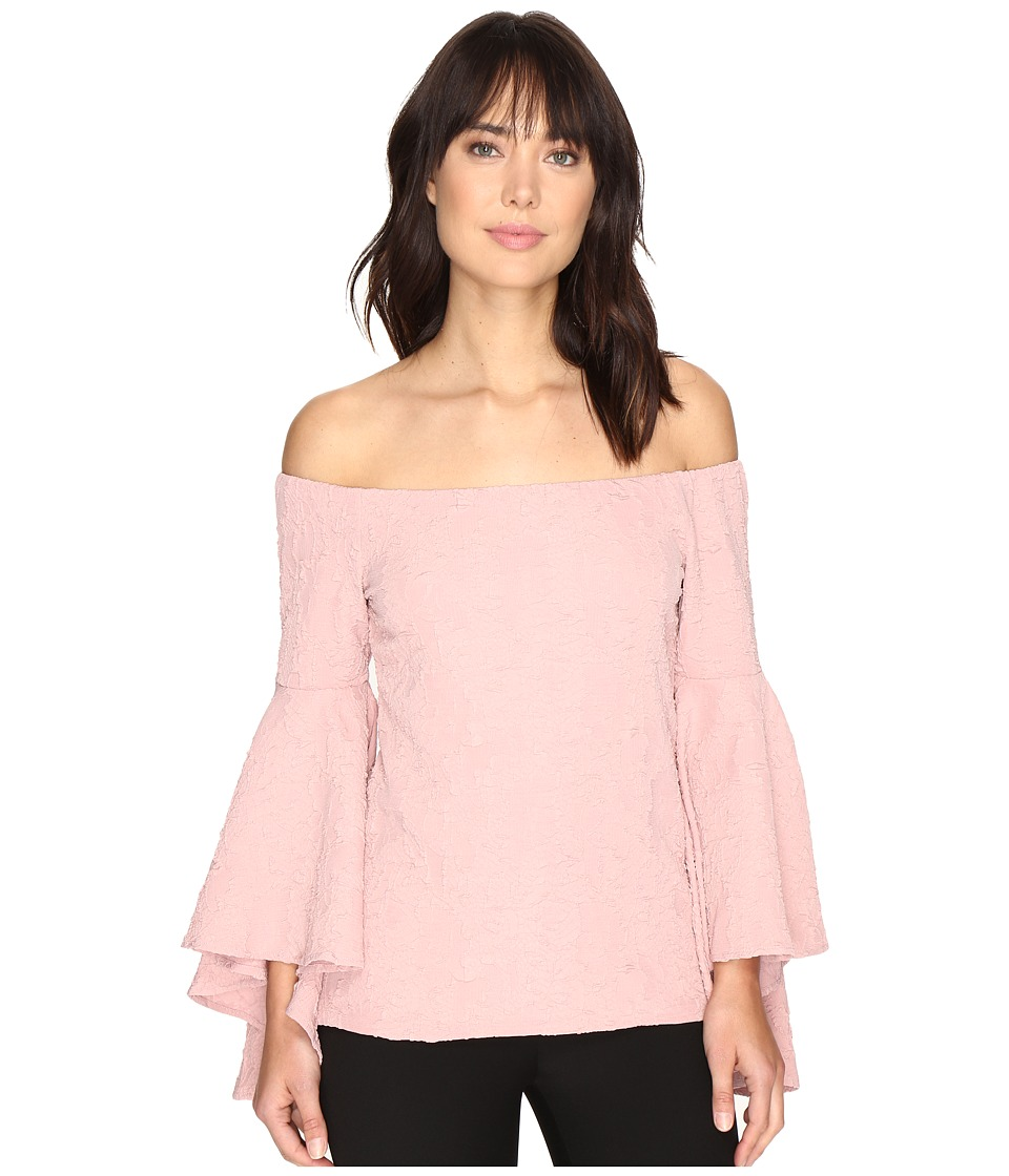 ROMEO & JULIET COUTURE - Long Ruffle Sleeve Top (Mist Rose) Women's Clothing