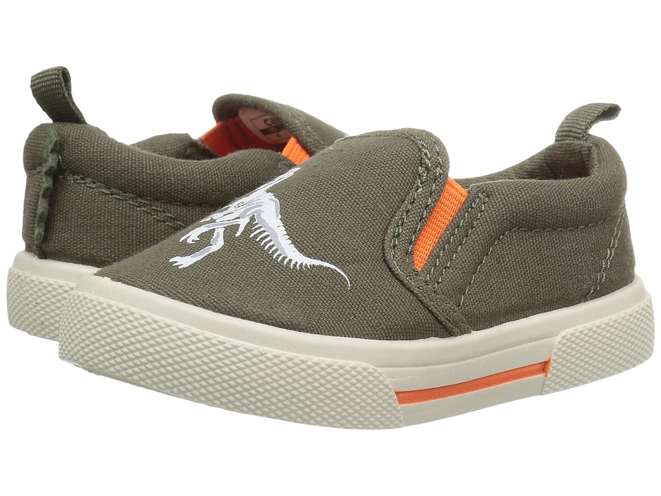 Carters - Damon 4 (Toddler/Little Kid) (Olive/Orange) Boy's Shoes