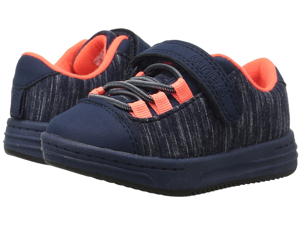Carters - Chase-C (Toddler/Little Kid) (Navy/Orange) Boy's Shoes