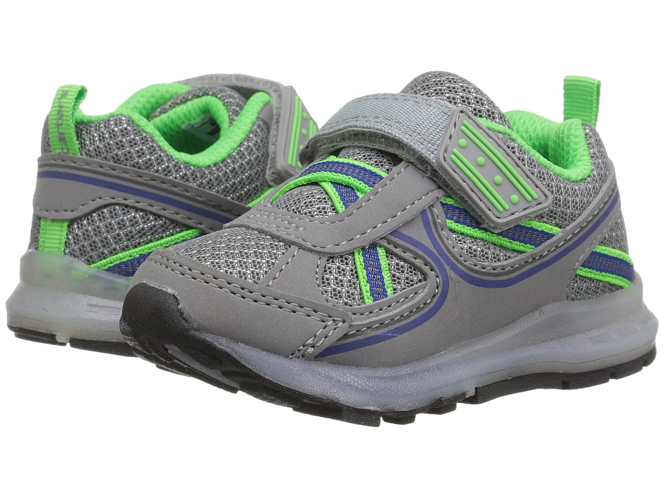 Carters - Excel (Toddler/Little Kid) (Grey/Green) Boy's Shoes