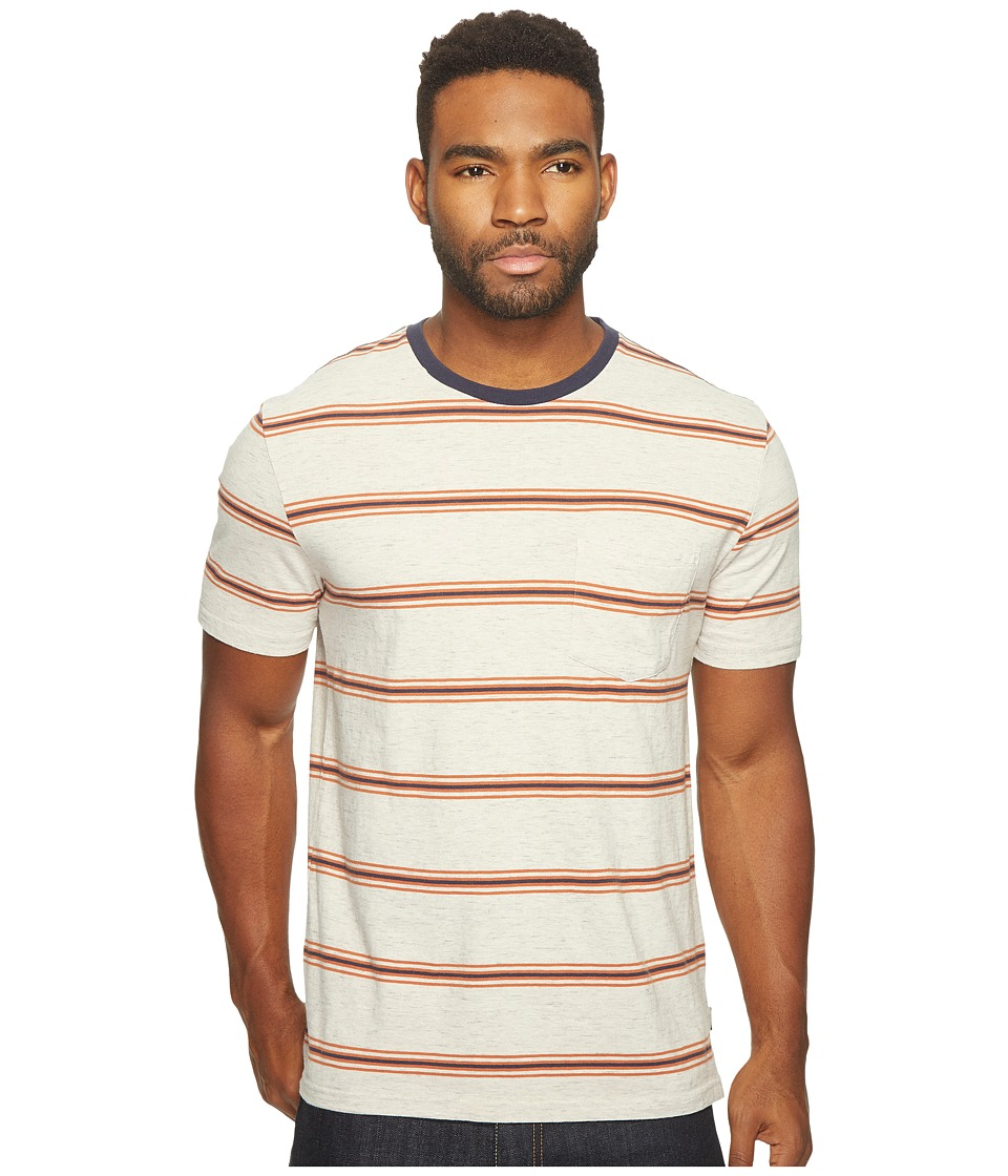 Brixton - Hilt Washed Short Sleeve Pocket Knit (Heather Stone) Men's Short Sleeve Knit