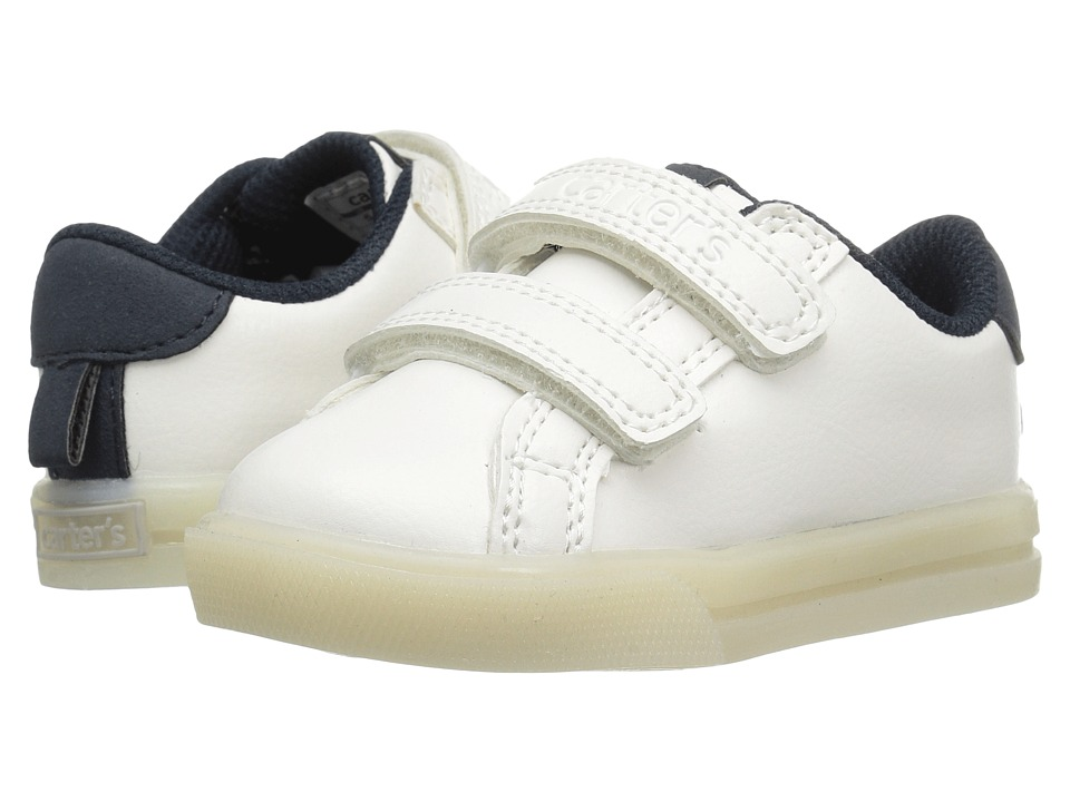 Carters - Jacob Light-Up Sneaker (Toddler/Little Kid) (White/Navy) Boy's Shoes