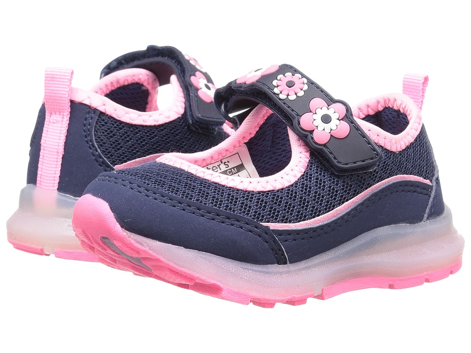 Carters - Jenny 2 Light-Up (Toddler/Little Kid) (Navy/Pink) Girl's Shoes
