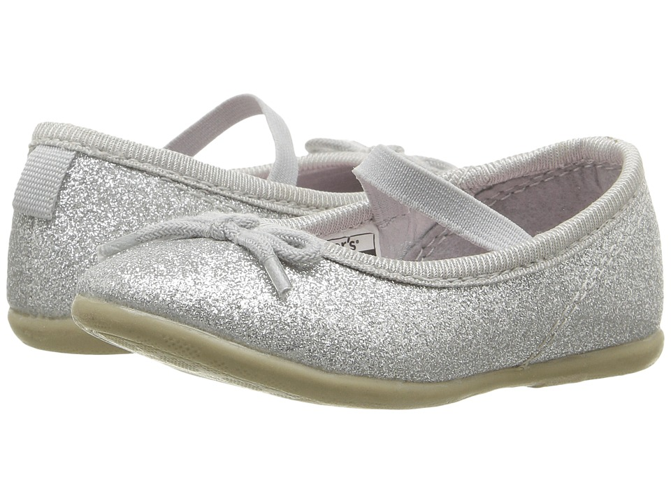 Carters - Ruby 5 (Toddler/Little Kid) (Silver Glitter) Girl's Shoes