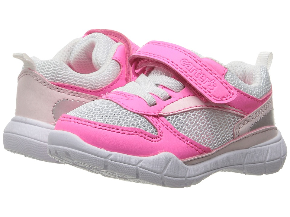 Carters - Web-G (Toddler/Little Kid) (Pink/White/Silver) Girl's Shoes