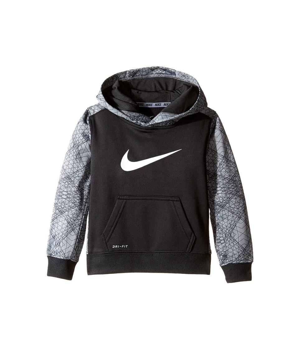 Nike Kids - Swoosh Therma Pullover Hoodie (Toddler) (Black) Boy's Sweatshirt