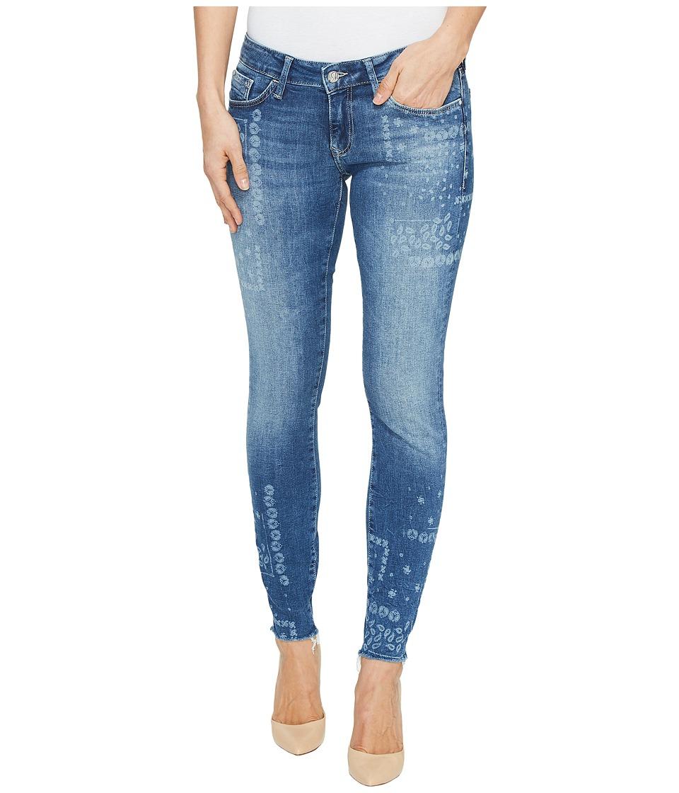 Mavi Jeans - Serena Low Rise Ankle Skinny in Flower Laser (Flower Laser) Women's Jeans