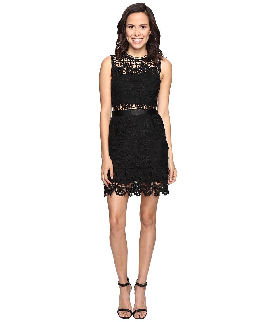 ROMEO & JULIET COUTURE - Sleeveless Lace Knit Dress (Black) Women's Dress