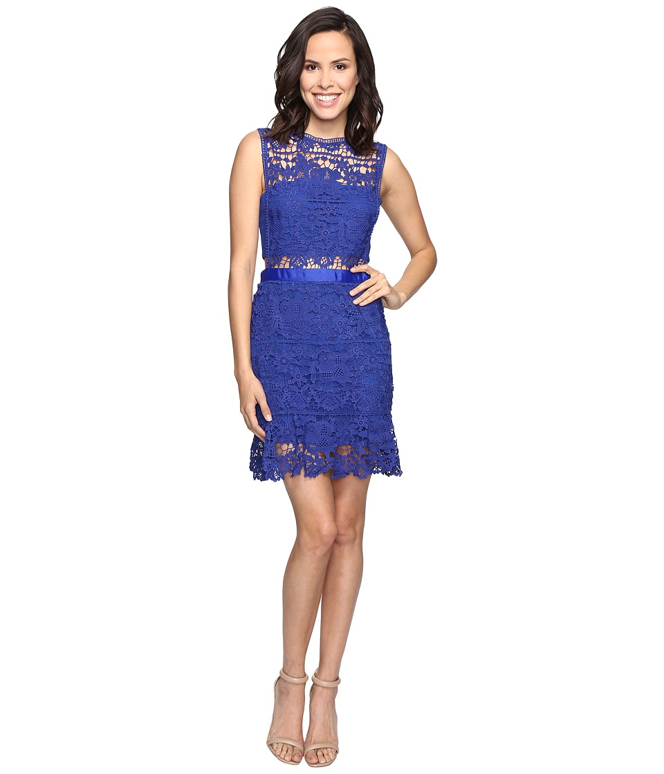ROMEO & JULIET COUTURE - Sleeveless Lace Knit Dress (Ultra Marine) Women's Dress