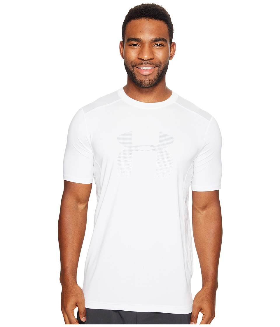 Under Armour - UA Raid Graphic Short Sleeve (White/Overcast Gray) Men's Clothing