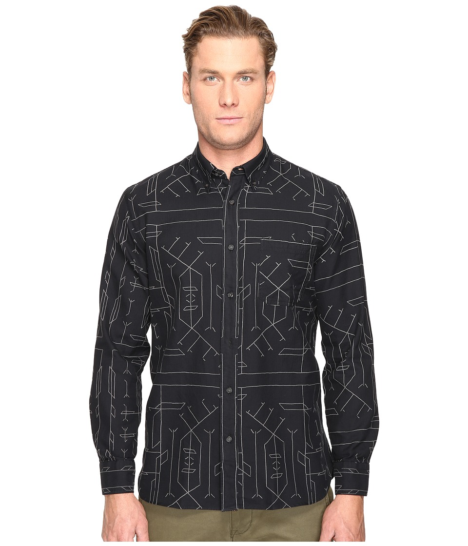 Billy Reid - Tuscumbia Button Down Shirt (Black) Men's Short Sleeve Button Up