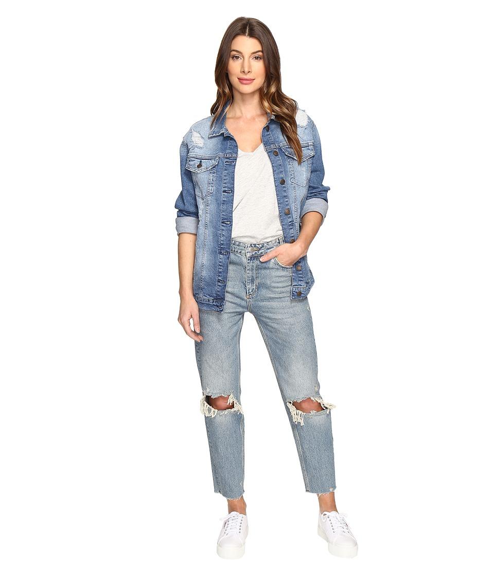 Mavi Jeans Jill Boyfriend Jacket (Mid Ripped Retro) Women