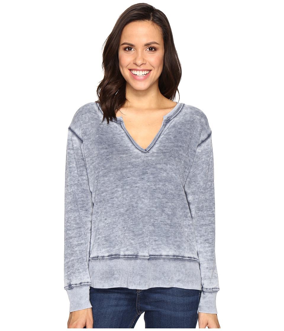 Allen Allen Split-Neck Sweatshirt (Lapis) Women