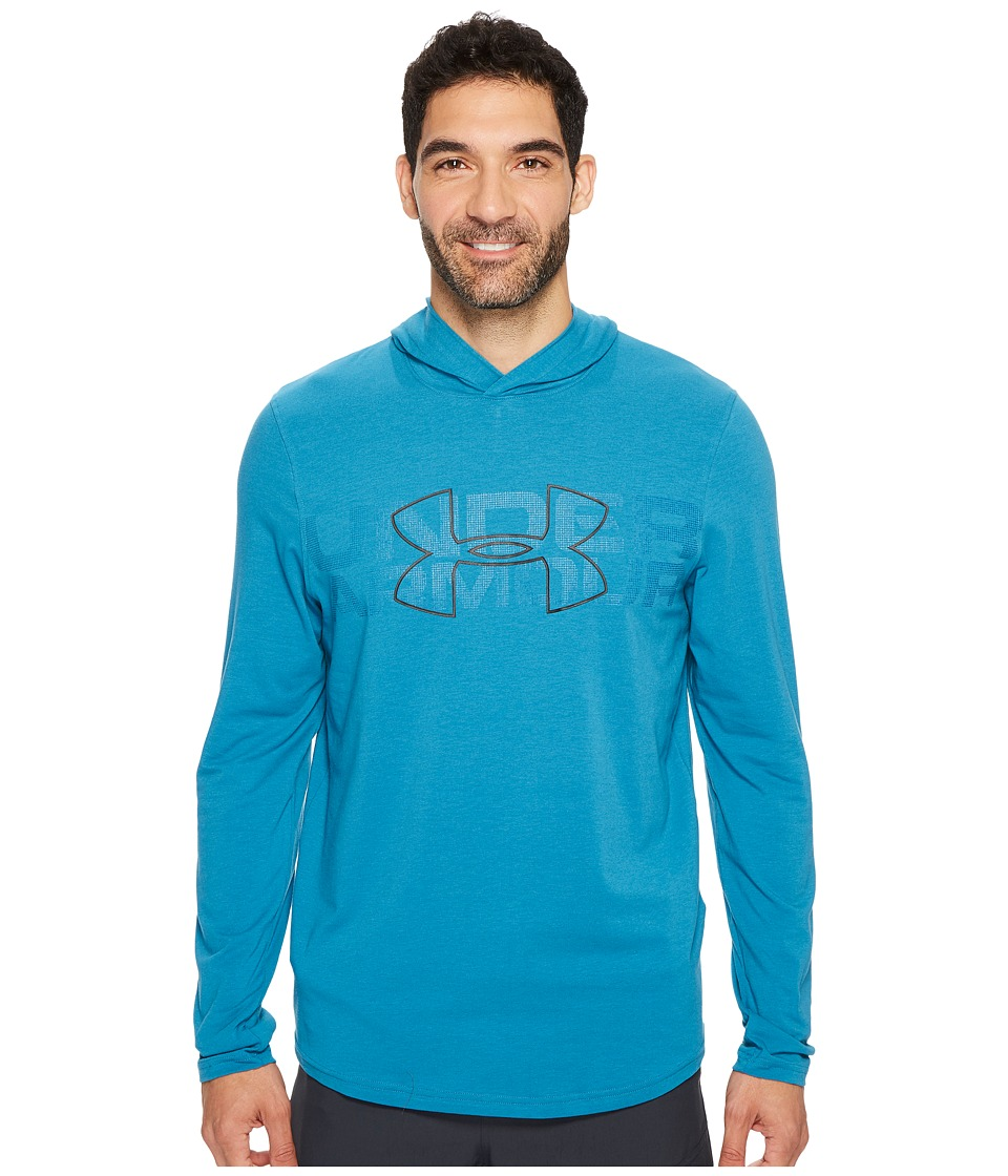 Under Armour - Sportstyle Stretch Hoodie (Bayou Blue/Academy/Black) Men's Sweatshirt