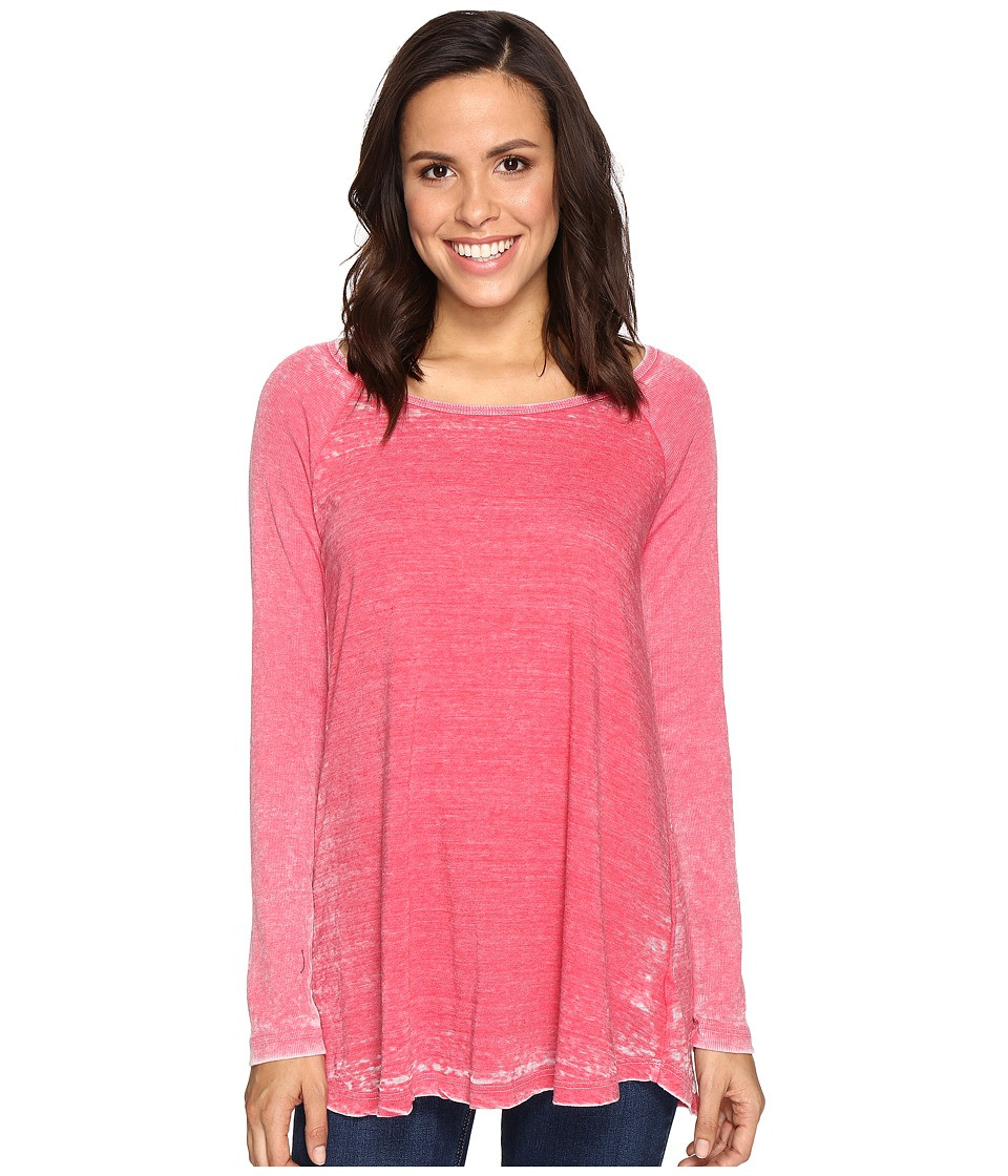 Allen Allen - Raglan Tunic with Ribbed Sleeves (Modern Red) Women's Blouse