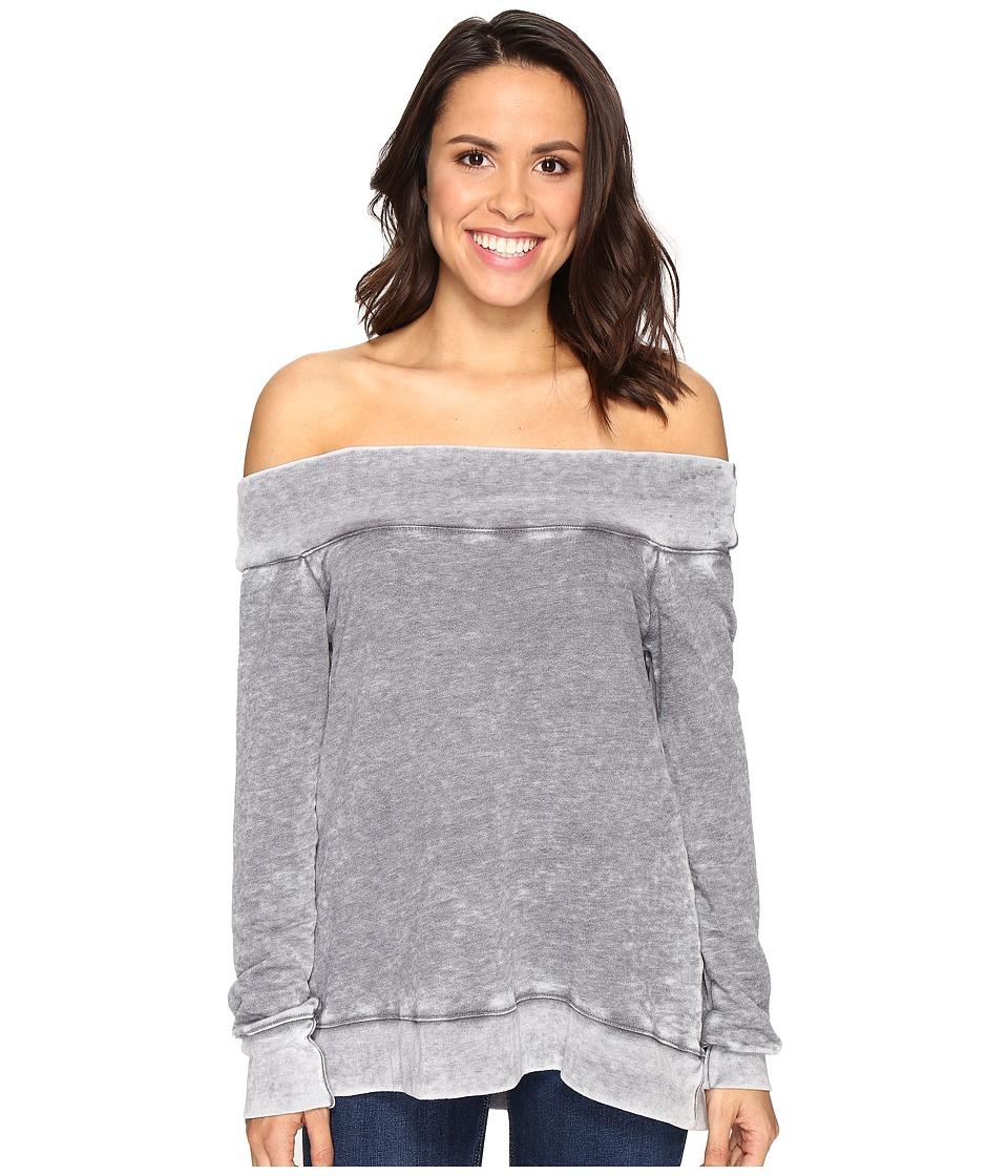 Allen Allen - Off the Shoulder Sweatshirt (Flint) Women's Sweatshirt