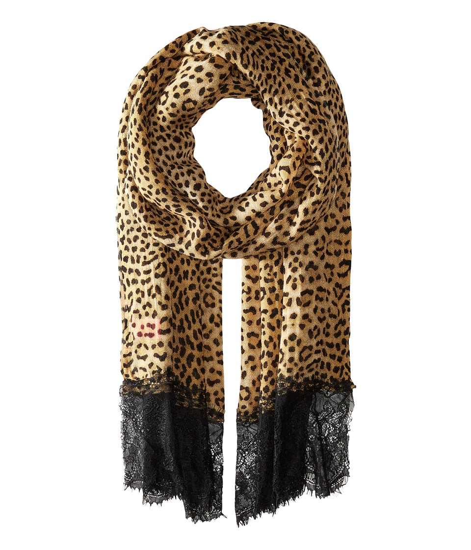 Betsey Johnson - Swanky Leopard Wrap (Brown) Scarves