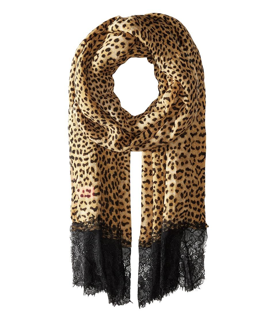 Betsey Johnson - Swanky Leopard Wrap (Brown) Scarves