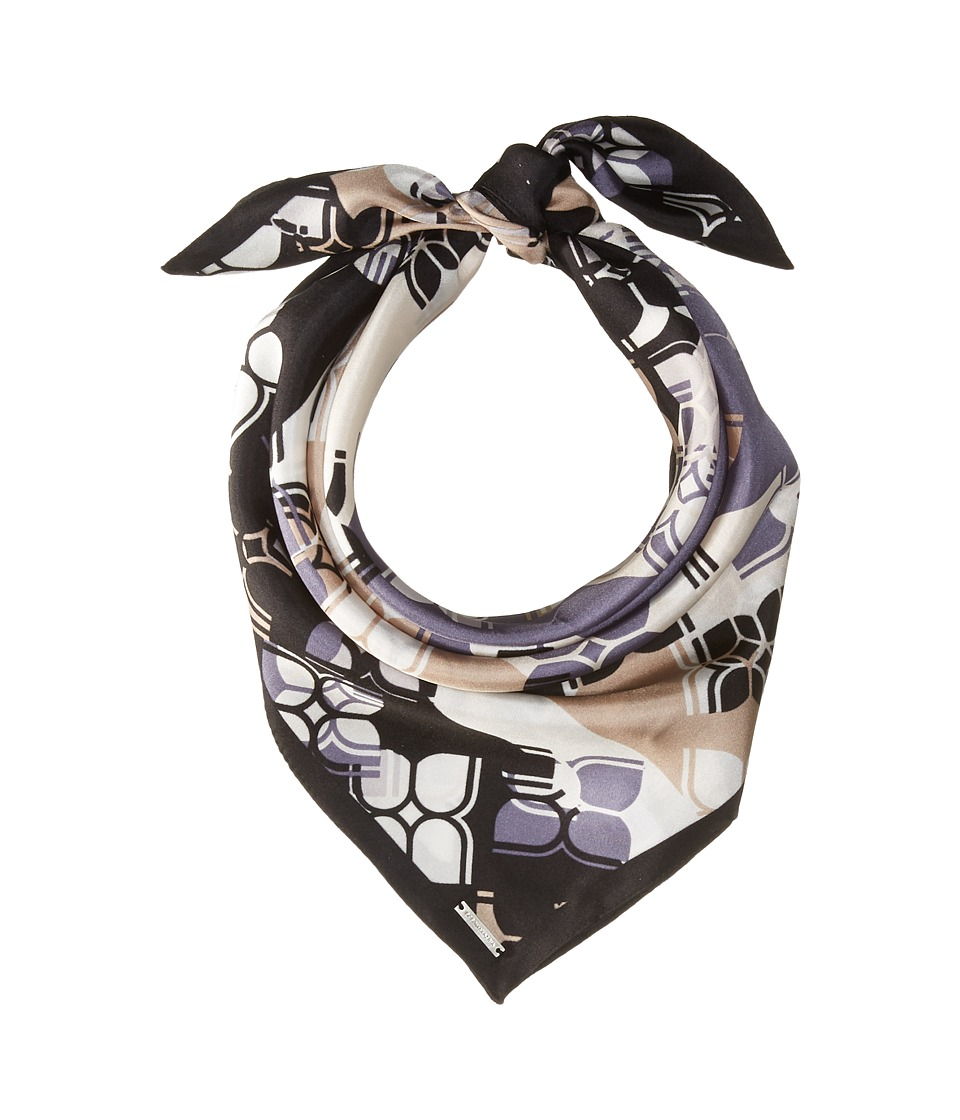 BCBGMAXAZRIA - Butterfly Stripe Square (Black) Scarves