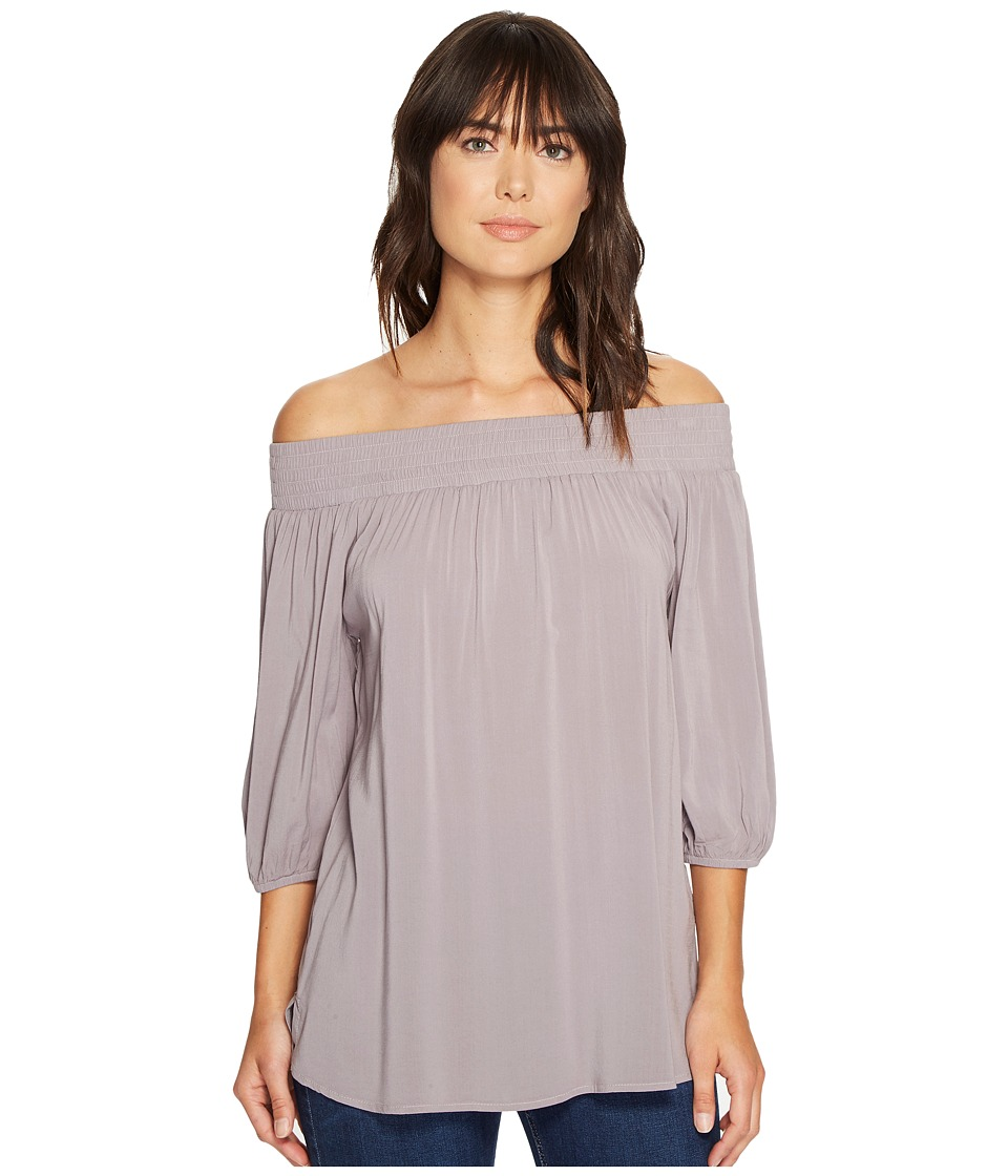 Allen Allen - 3/4 Off the Shoulder Top (Earth) Women's Clothing