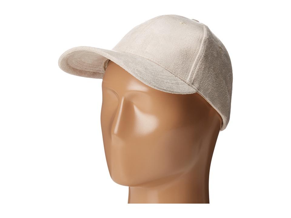 BCBGeneration - Soft Sueded Baseball (Whisper White) Baseball Caps