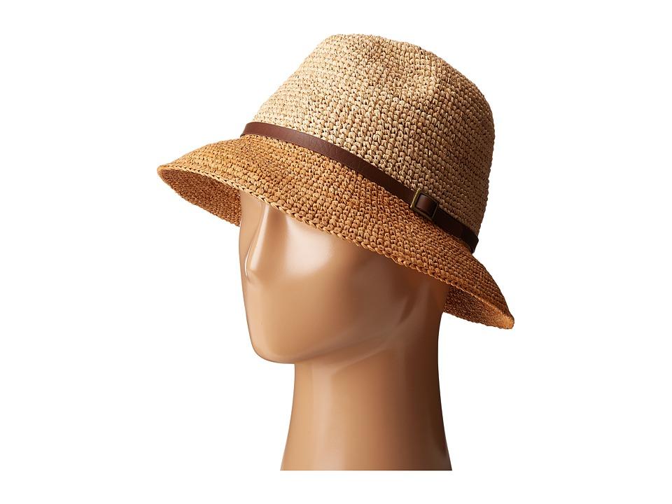 SCALA - Crochet Raffia Six-Way Fedora (Tea) Fedora Hats