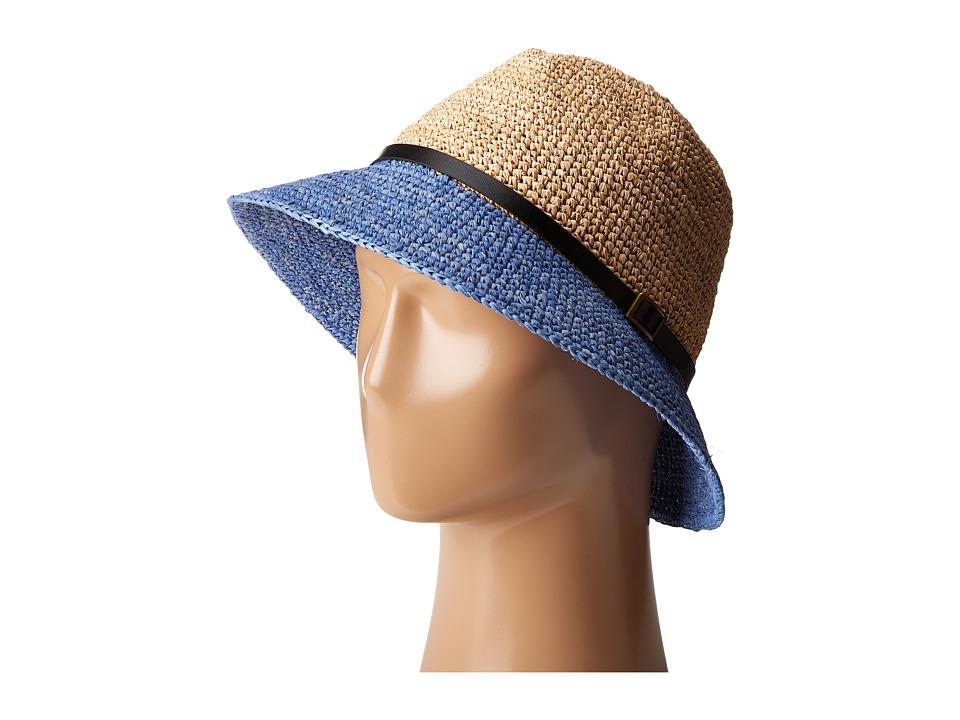 SCALA - Crochet Raffia Six-Way Fedora (Denium) Fedora Hats
