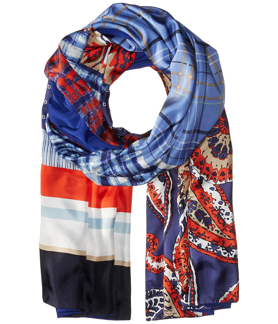 BCBGMAXAZRIA - Patchwork Wrap (Blue Depths) Scarves