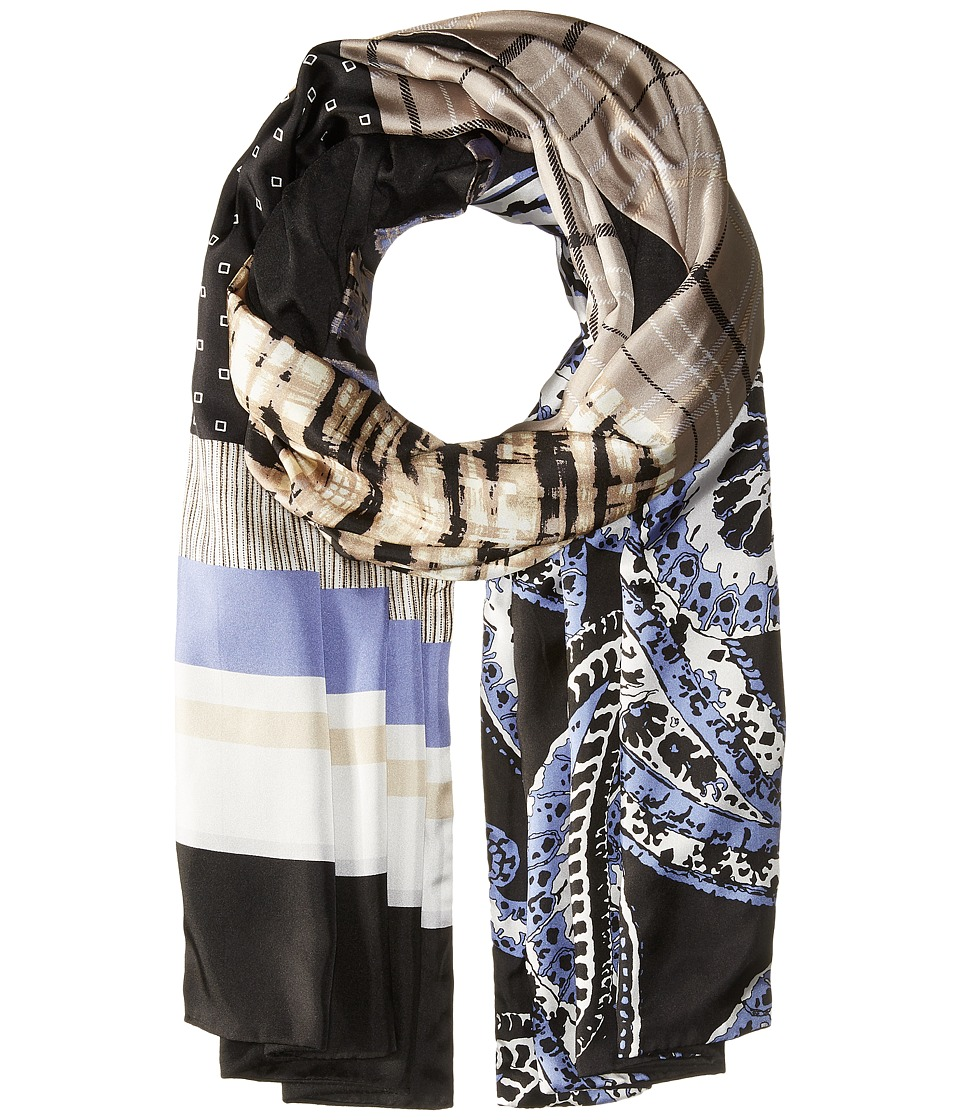 BCBGMAXAZRIA - Patchwork Wrap (Black) Scarves