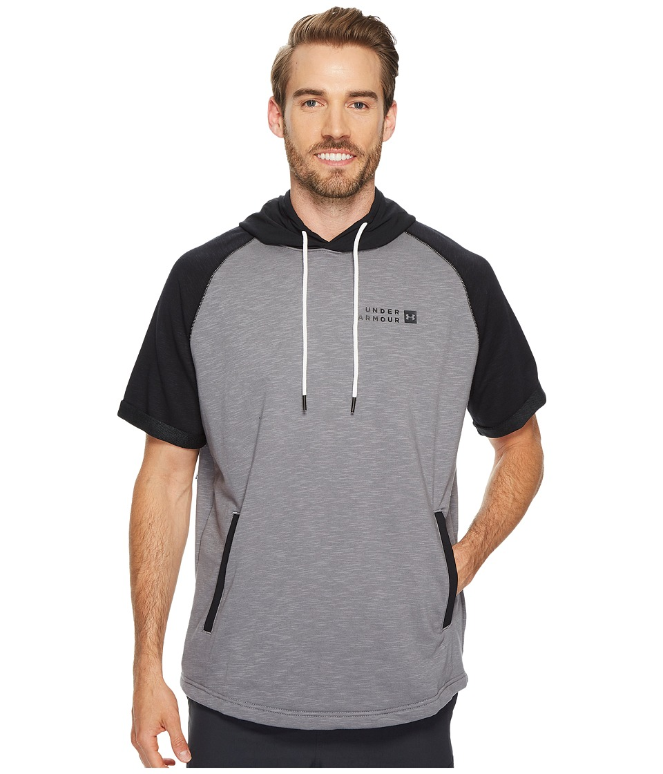 Under Armour - Sportstyle Terry Short Sleeve Pullover (True Gray Heather/Black/Black) Men's Clothing