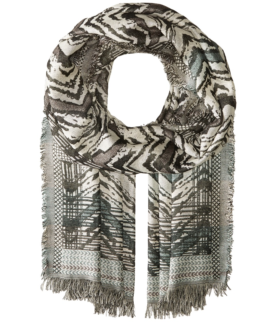 BCBGMAXAZRIA - Chevron Wrap (White) Scarves
