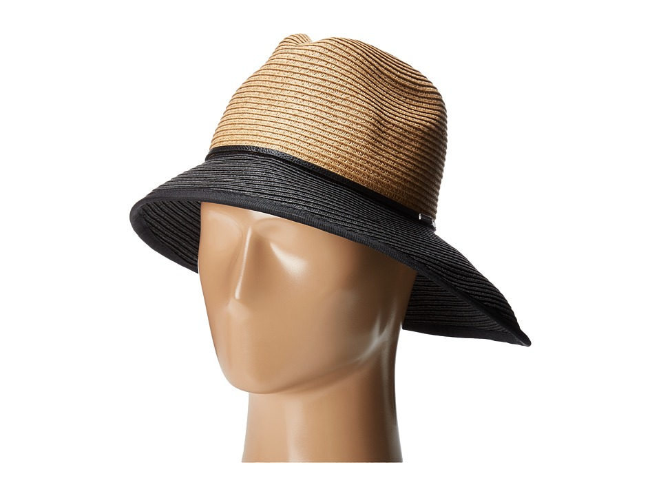 BCBGMAXAZRIA - Asymmetrical Cloche (Nautral/Black) Caps