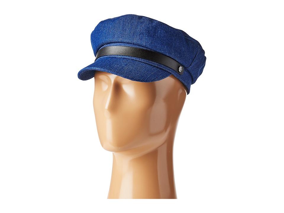 BCBGMAXAZRIA - Chambray Newsboy (Denim Multi) Caps