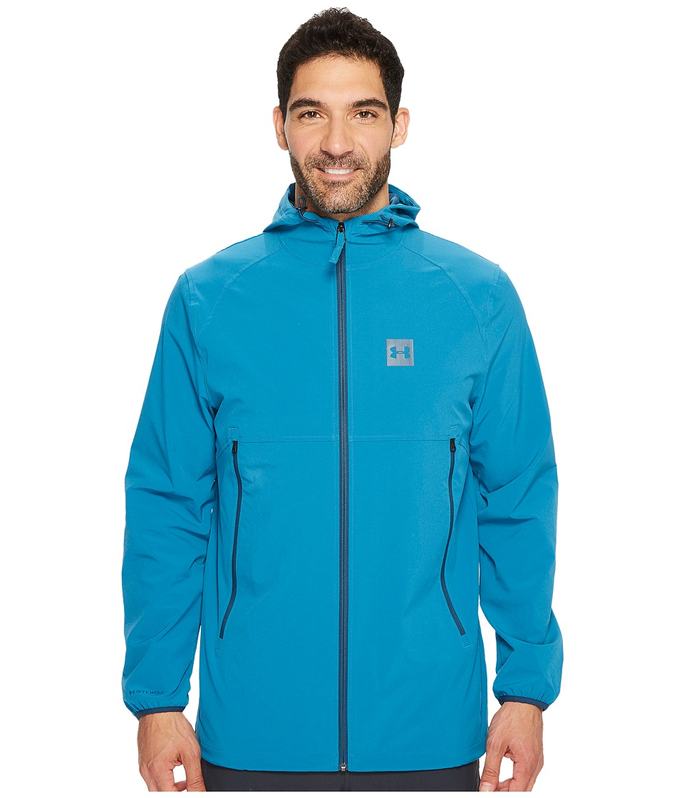 Under Armour - Sportstyle Fish Tail Jacket (Bayou Blue/True Ink) Men's Coat