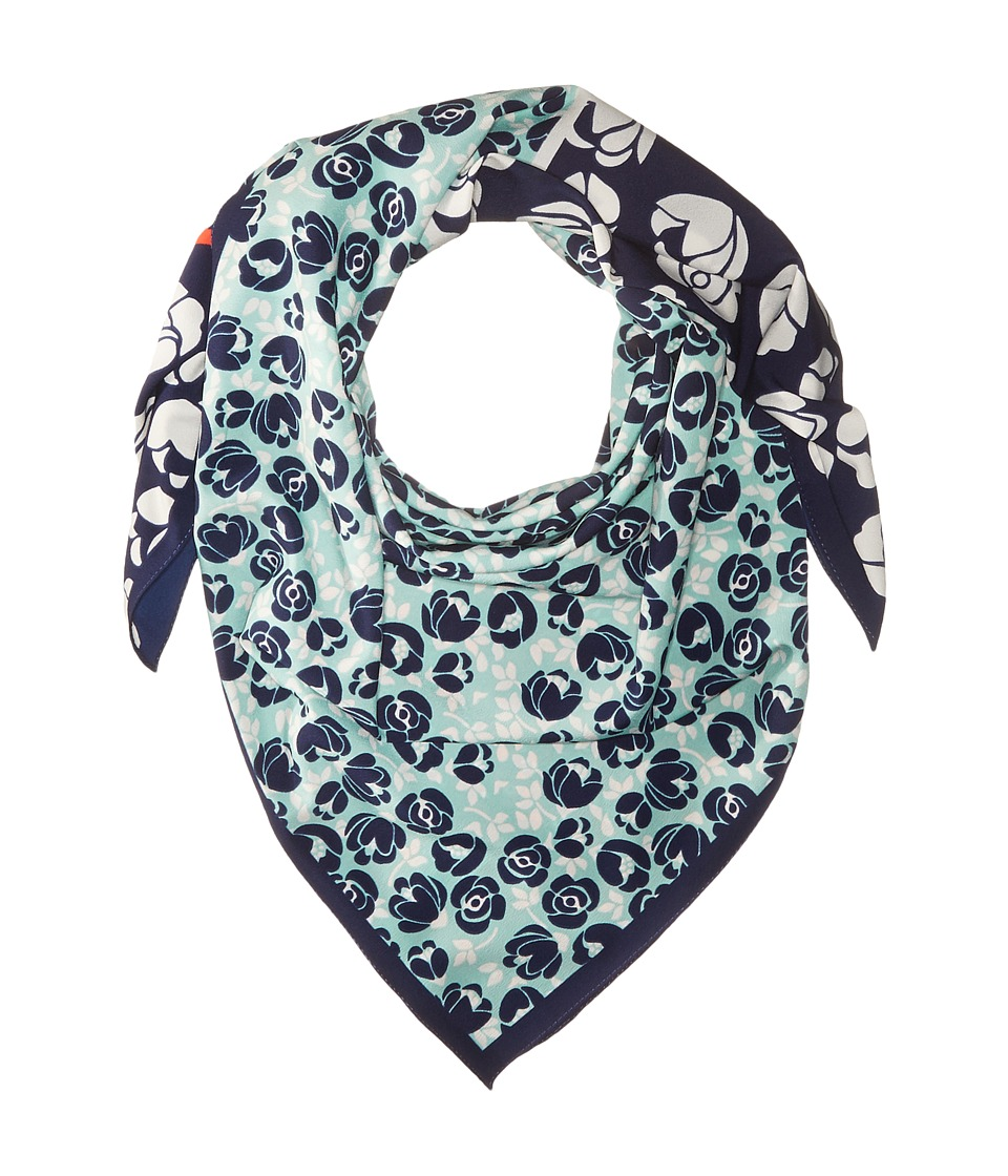 BCBGeneration - Ditzy Rosebud Square (Deep Blue) Scarves