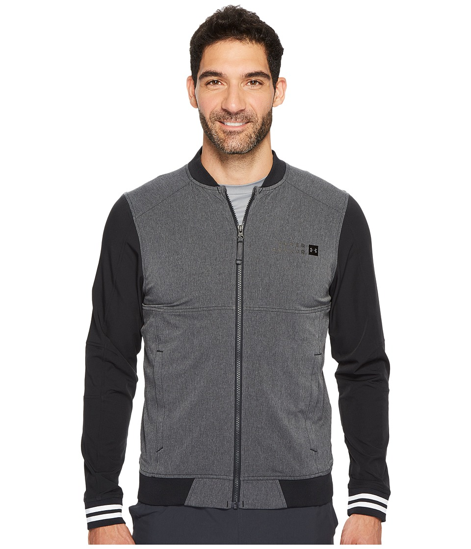 Under Armour - Sportstyle Woven Bomber (Anthracite/Black/Black) Men's Clothing