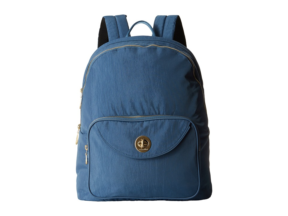 Baggallini Gold Brussels Laptop Backpack (Slate Blue) Backpack Bags