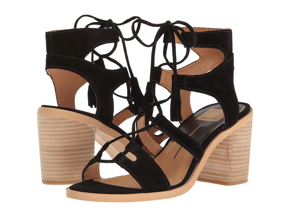 Dolce Vita - Misha (Black Suede) Women's Shoes