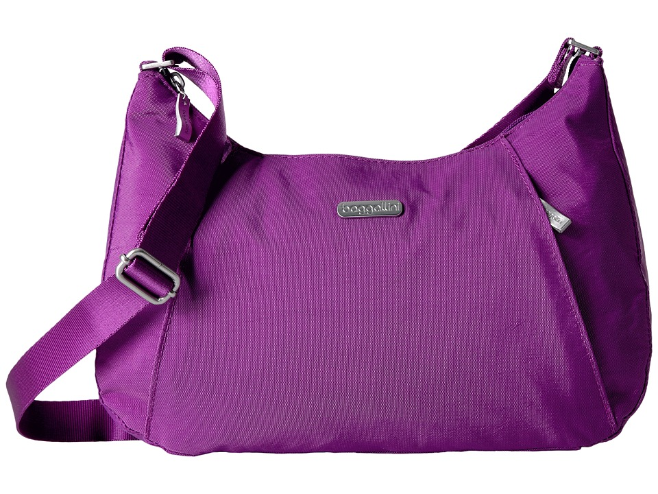 Baggallini - Slim Crossbody Hobo (Magenta) Hobo Handbags