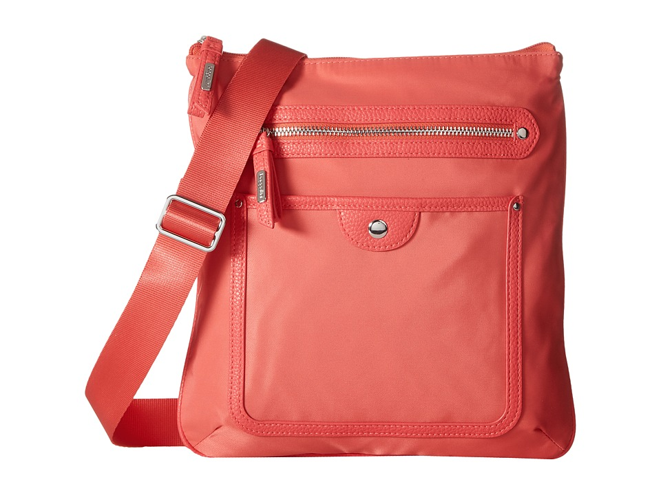 Baggallini - Highland Slim Crossbody (Coral) Cross Body Handbags