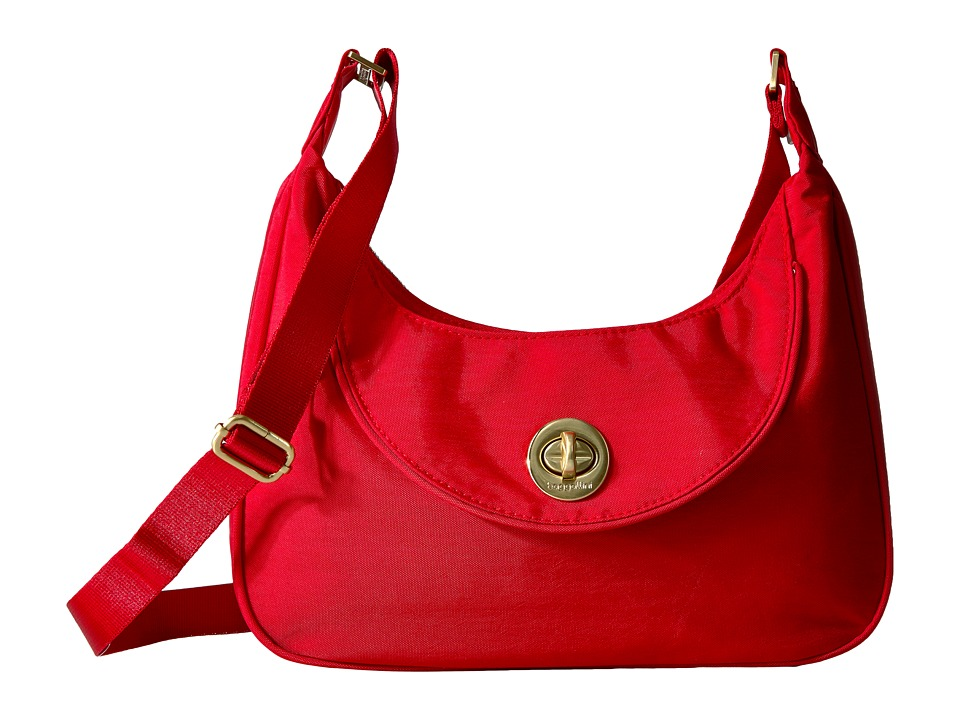 Baggallini - Oslo Small Hobo (Poppy Red) Handbags