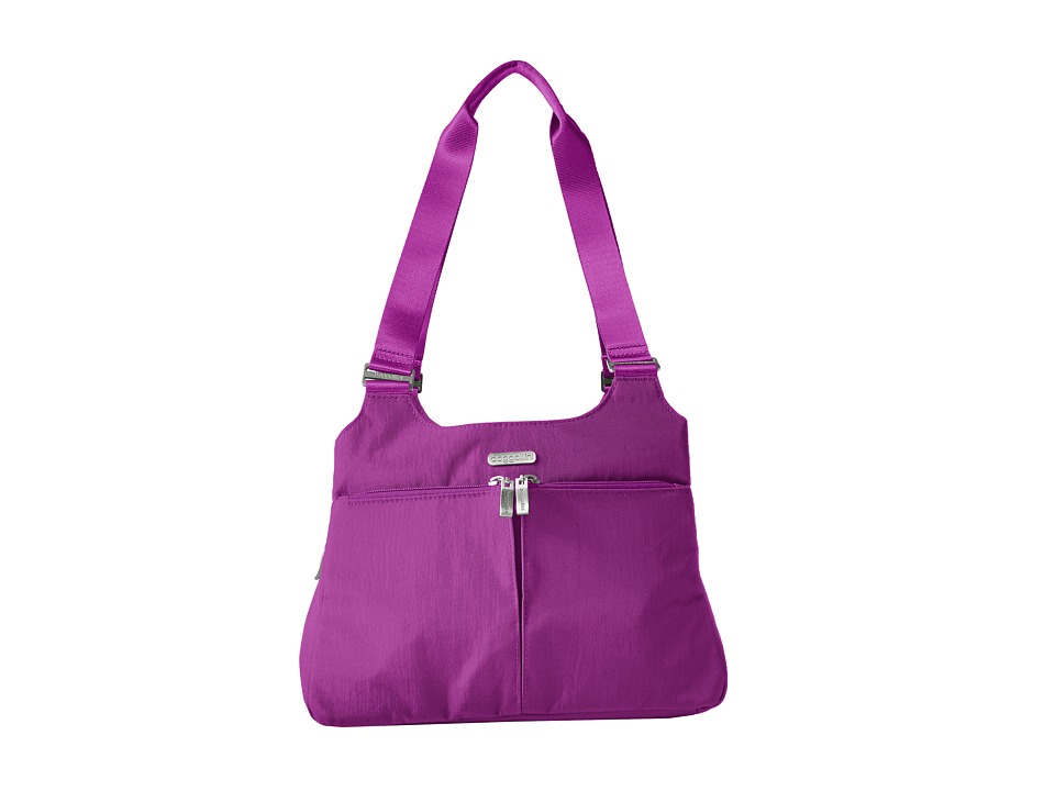 Baggallini - Triple Compartment Satchel (Magenta) Satchel Handbags