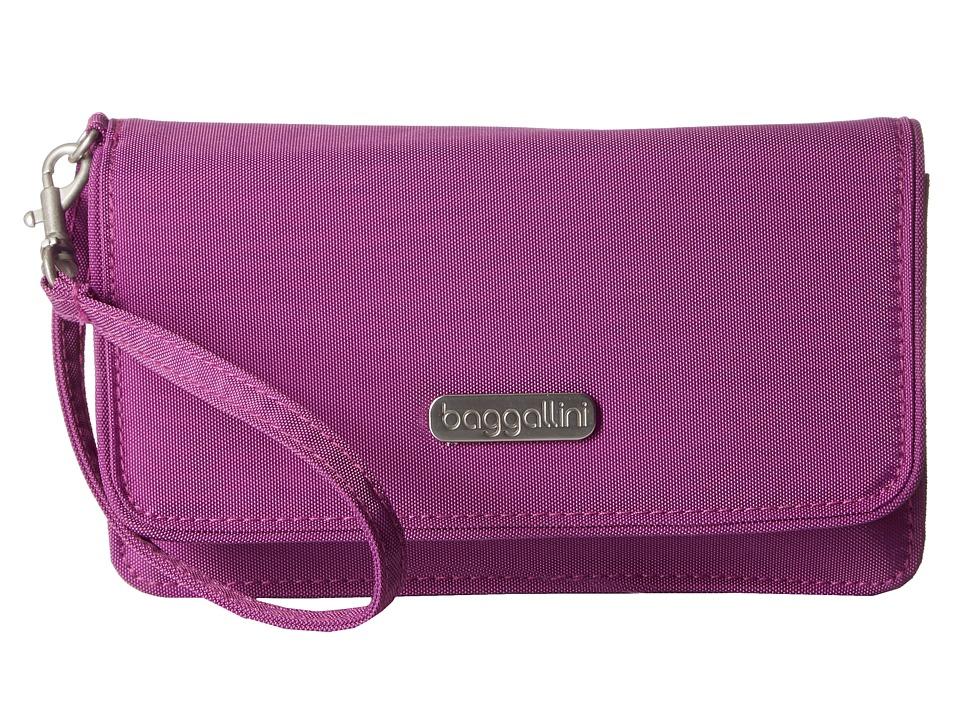 Baggallini - RFID Flap Wristlet (Magenta) Wristlet Handbags