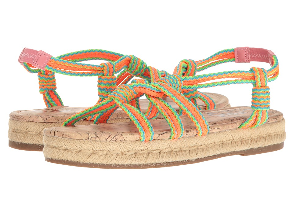 Circus by Sam Edelman Athena Neon Multi Braided Rope Womens Shoes
