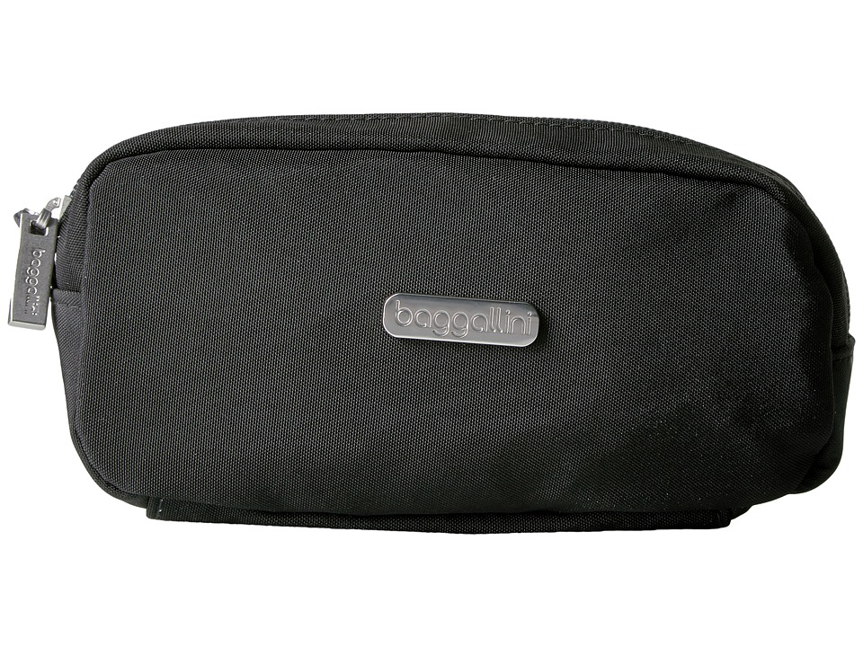 Baggallini - Square Cosmetic Case (Black/Charcoal) Cosmetic Case