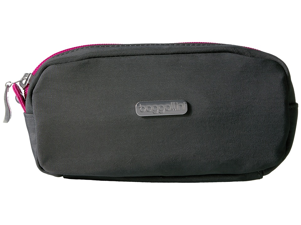 Baggallini - Square Cosmetic Case (Charcoal/Fuchsia) Cosmetic Case