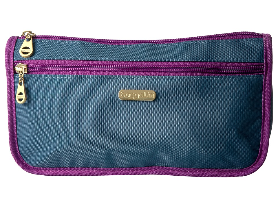 Baggallini - Fiji Large Wedge Case (Slate Blue) Cosmetic Case